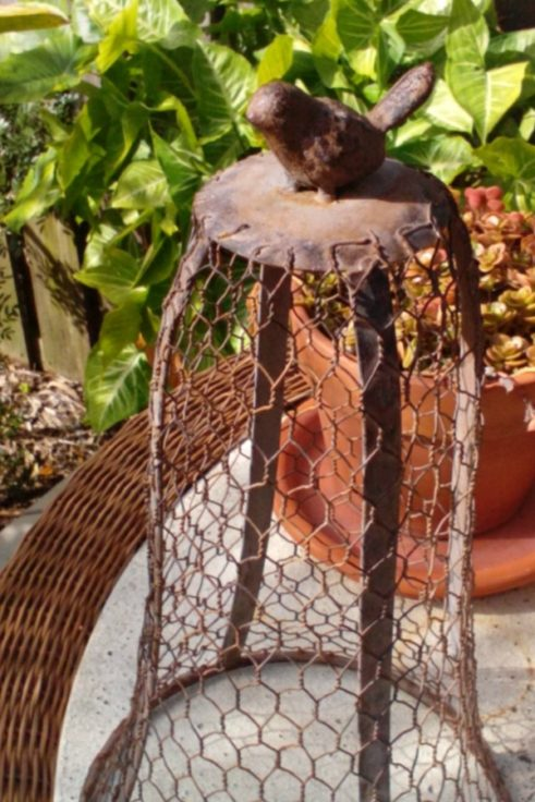 Wire Bird Cloche
