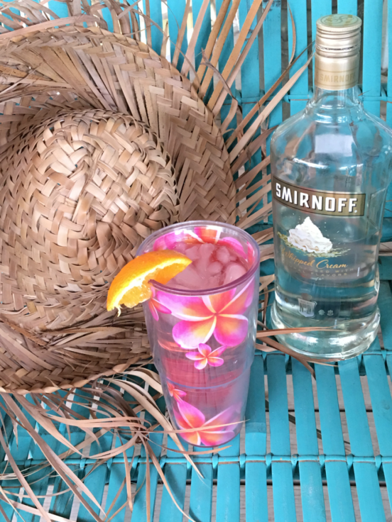 Drink recipe with whipped cream vodka and cranberry