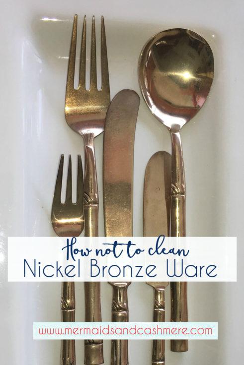 How not to clean Nickel Bronze Ware